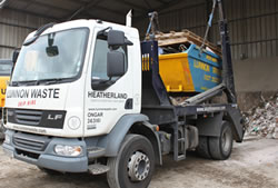 Skip Hire Truck in Brentwood